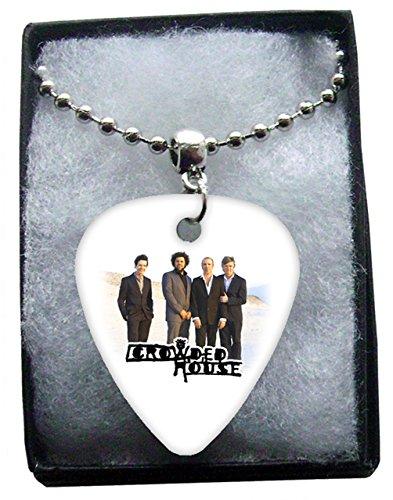 Crowded House Metal Guitar Plektron Necklace Ball Chain Kette (Metal House Guitar Rock)