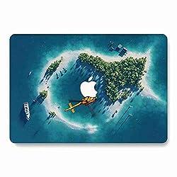 AQYLQ Hülle MacBook Air 13 Zoll Hülle Landschaft Meer Muster Schutzhülle Case Cover MacBook Air 13.3 Hülle {A1369 / A1466} - Insel