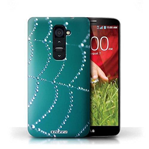 Kobalt® Imprimé Etui / Coque pour LG G2 / Rouge conception / Série Toile d'araignée Perles Turquoise