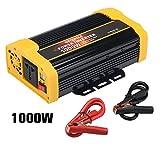 Vetomile - 1000W Spannungswandler Wechselrichter (DC 12V auf 230V AC, 2 Steckdosen, 2 2.1A USB Ports, Modifizierte Sinuswelle, Auto Power Inverter)
