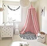 Betthimmel für Kinder/Babys, Baumwolle, UltraGood Moskitonetz zum Aufhängen, Vorhang, Spiel- und Lesezelt für innen und außen, Bett-/Schlafzimmerdekoration, Insektenschutz, Höhe 240cm, Umfang oben: 152cm, Umfang unten: 265cm