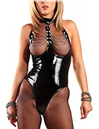 Sexy Lingerie Lacquer Ladies Lingerie Leather, Clubwear Jumpsuits Erotic Sleepwear Women