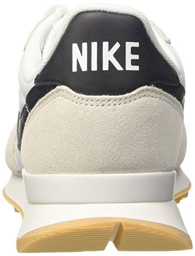 Nike Wmns Internationalist, Chaussures de Running Compétition Femme Blanc (Gipfel Weiß/schwarz-gummi Gelb)