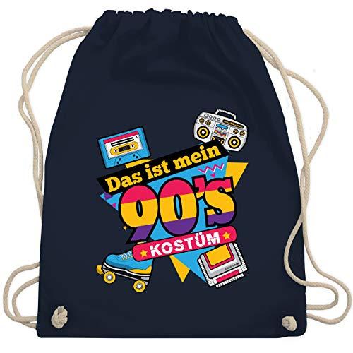 Karneval & Fasching - Das ist mein 90er Jahre Kostüm - Unisize - Navy Blau - WM110 - Turnbeutel & Gym Bag