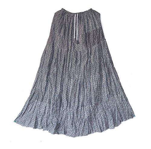 Crapgoos Long skirts for Women & Girls (White Printed)