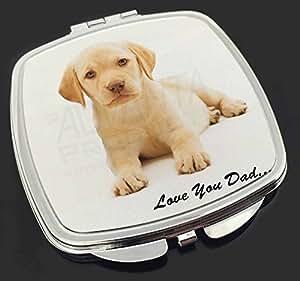 Yellow Labrador 'Love You Dad' Make-up Taschenspiegel Weihnachtsgeschenk