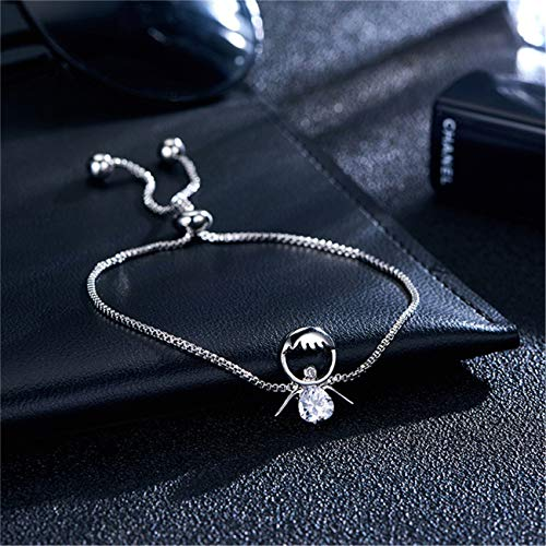 Bigsweety Frauen Armbänder Einstellbare Armband Kristall Silber Armband Schmuck Geburtstag für Frauen Freunde,#16 (Silber Sweet 16 Schmuck)