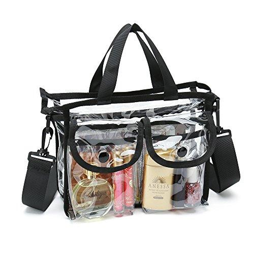 Bolsas de cosméticos de PVC transparente con correa de hombro extraíble y ajustable
