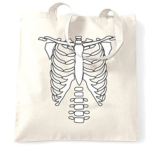 Skeleton petto costume del partito di Halloween disegno freddo Ossa Creepy Sacchetto Di Tote White