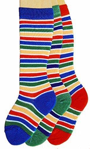 Baby Kniestrümpfe Ringel 3er Pack Farbe: Blockringel, Größe: 17/18 bzw. 74/80