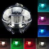 BuyinCoins imperméable solaire flottante pour bassin rotat couleur changeante lampe boule lampe LED BuyinCoins