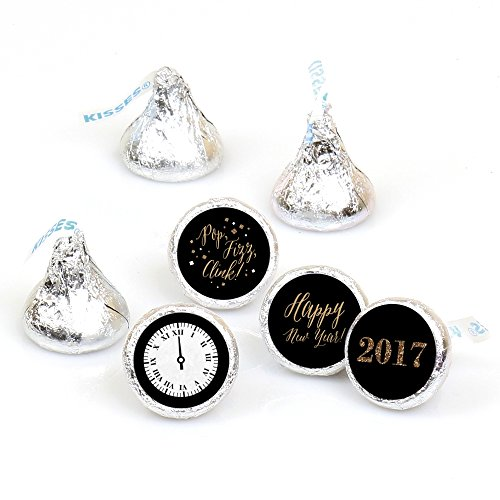new-years-eve-gold-round-candy-new-years-eve-sticker-favours-labels-fit-hersheys-kisses-1-sheet-of-1