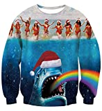 Hai Regenbogen Ugly Christmas Sweater bedruckter Pullover