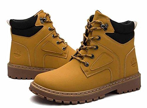 Uomini Casuale Stivali Martin Autunno Inverno Nuovo Inghilterra Stivali Da Attrezzeria Retro Giallo Stivali In Cima Stivali Tattici Yellow