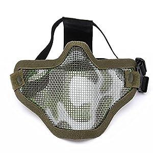 CAMTOA masque de tactique métallique de protection SKULL vitesse Masque moitié du visage tactique Airsoft militaire