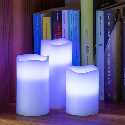 LED Velas Multicolor 3pz.