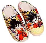 Cosstars Dragon Ball Anime Anti-Rutsch Weich Warm Zuhause Hausschuhe Niedlich Plüsch Innen Schuhe