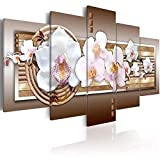 ChuangYing Modern decorative painting wall stickers inkjet canvas wall sticker five orchid white abstract painting