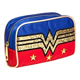 Official DC Comics Wonder Woman Glitter Logo Make-Up Toiletries Bag