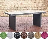 CLP Polyrattan-Gartentisch AVIGNON mit einer Tischplatte aus Glas I Wetterbeständiger Tisch mit sechs Sitzplätzen I In verschiedenen Farben erhältlich Grau