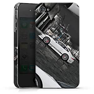 Apple iPhone 4/4S Case Hülle Cover Schutzhülle PremiumCase white-Porsche 911 Carrera Cargraphic S
