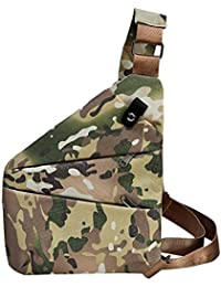 Rrimin Anti-Theft Multifunctional Digital Storage Men Waist Crossbody Chest Bags (Camo2 Right Chest)