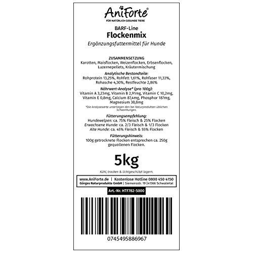 AniForte B.A.R.F. Line No10 Flockenmix 5 kg Hundeflocken Gemüse Biofutter- Naturprodukt für Hunde - 5