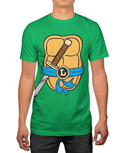 TMNT Herren T-Shirt Teenage Mutant Ninja Turtles - Grün - Mittel (Michaelangelo Ninja Turtle Kostüm)