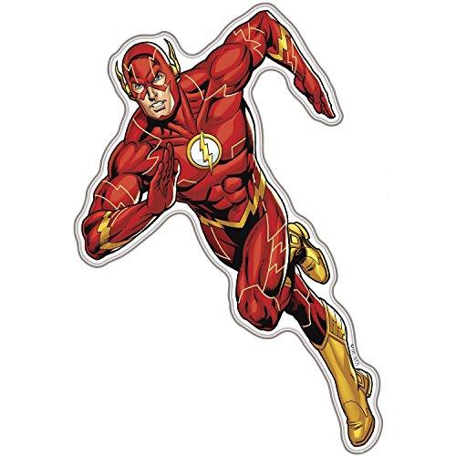 Fan Emblems The Flash Charakter Auto Aufkleber gewölbt/Multicolor/klar, DC Comics Justice League Automotive Emblem Gilt leicht für Autos, LKW, Motorräder, Laptops, Windows, fast ()