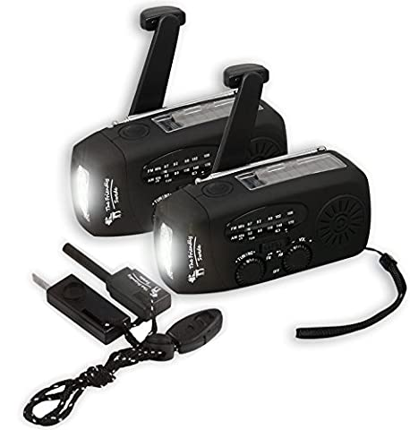 2 er-Set The Friendly Swede Handkurbel Camping Radio mit Taschenlampe