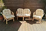 Mayaadi Home Gartenbankauflage Bankauflage Bankkissen Sitzkissen Sitzpolster Marcos 4 tlg. Set JCG2 Beige