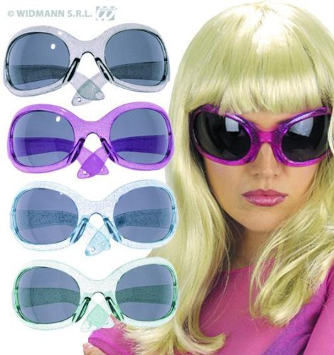 70s Style Big Frame Plastic Sunglasses for fancy dress.