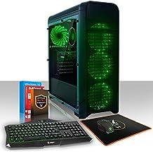 Fierce APACHE PC Gamer Bundle - Rápido 4 x 3.5GHz Quad Core Intel Core i5 7400, 1TB Disco duro, 16GB de 2133MHz DDR4 RAM/Memoria, NVIDIA GeForce GTX 1050 2GB, HDMI, USB3, Wi-Fi, Perfecto para juegos competitivos, Windows 10 Instalado - Teclado (UK/QWERTY), Raton, Garantía De 3 Años, (457915)