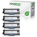 Kineco 4 Toner kompatibel für TN-2120 für Brother DCP-7030, HL-2140, MFC-7320, HL-2150, HL-2170, MFC-7320 - Schwarz je 2.600 Seiten