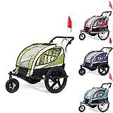 SAMAX Remolque de Bicicleta para Niños 360° girable Kit de Footing Transportín Silla Cochecito Carro Suspensíon Infantil Carro - en diferentes colores