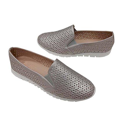 Hengfeng Frauen Leder Quaste Schuhe (38 EU, (Mädchen Gold Für Schuhe Riemchen Ferse)