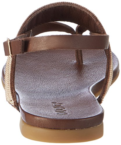 Inuovo Damen 7163 Zehentrenner Braun (Dark Brown)