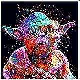 xuhpiar Pittura Digitale Fai-da-Te Guerre Stellari Pittura Ad Olio con I Numeri, Dipinto A Mano di DIY Tela di Pittura Soggiorno Wall Art Decorazione Regalo di Casa 40X50Cm