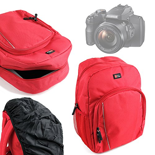 duragadget-high-quality-water-resistant-bright-red-kids-backpack-rucksack-with-black-rain-cover-for-