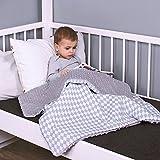 LULANDO Babydecke Kuscheldecke Krabbeldecke aus 100% Baumwolle (80x100 cm). Super weich und flauschig. Kuschelige Lieblingsdecke für Ihr Baby. Farbe: Grey - Grey diamond