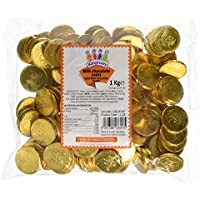 Milk Chocolate Gold Pirate Coins 1 Kilogram Bag (Approx 135 coins)