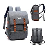 Vintage Laptop Backpack ,15 Inch Laptop Backpack Puersit Durable Business College Travel Daypacks (Gary)
