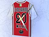 FanPlastic TURKISH AIRLINES EUROLEAGUE BASKETBALL WALL CLOCKS - PERSONALISED - BRAND NEW ACRYLIC SHIRT DESIGN!! (AX Armani Exchange Olimpia Milan EuroLeague Basketball Jersey Clock)