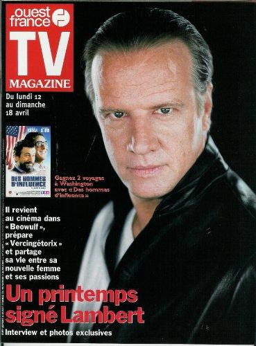 TV Magazine Ouest-France - n°16547 - 09/04/1999 - Christophe Lambert, Céline Dion, Guy Marchand