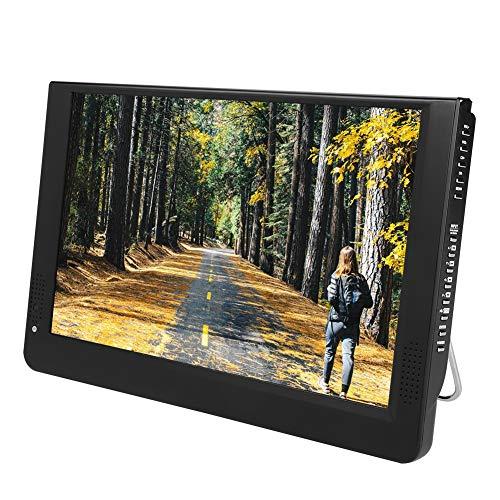 Téléviseur Portable, 1080P 16: 9 LED Mini Téléviseur Numérique DVB-T / T2 Télévision Écran LCD Support VGA/AV/HDMI/USB/SD/MMC avec Adaptateur Allume-Cigare pour Voiture Maison. (12 Pouces)