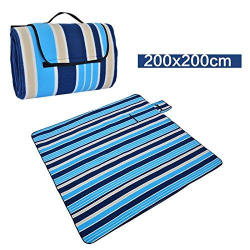 Outdoor EPE Aluminium Film Feuchtigkeit tragen wasserdichte Rasen Picknick Decke ( Farbe : 3 , größe : 200*200CM )