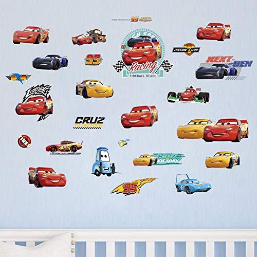Decalmile automobili adesivi murali per ragazzi camera dei bambini vivai adesivi da parete removibili stanza dei giochi decorazione