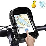 Lyeiaa Borsa Telaio Bici, Wheel Up 6 inch Porta Cellulare Bici, Borsa da Manubrio per Biciclette, Borse Biciclette Supporto Bici MTB BMX, Accessori Bici