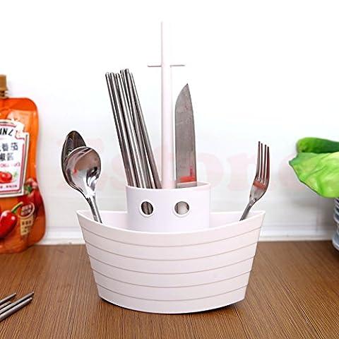 pratique de cuisine Couverts Serviette de Table Baguettes Fourchette Cuillère de brosse à dents de stockage Rack en le Cheers