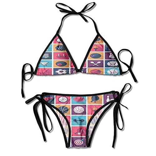 Soft Bikini Swimsuits,Whistle Stopwatch Bowling and Sexy Bikini 2 Pieces -